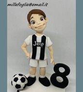 Decorazione/Cake Topper di zucchero Bambino-Ragazzo Juventus(o altre squadre)