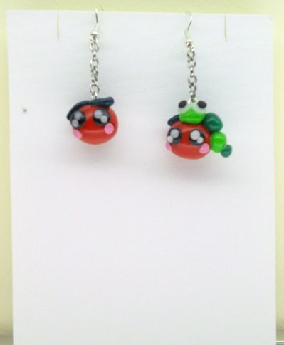 "ORECCHINI IN FIMO ""HAPPY APPLES"""
