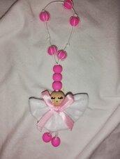 Bomboniera mini rosario con angioletto