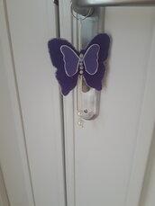 Portachiave a forma di farfalla in feltro