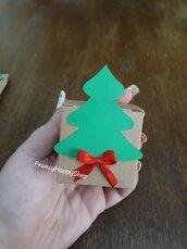 Segnaposto scatolina natalizia per caramelle e dolcetti scatoline bomboniere personalizzate segnaposto con nome carta kraft christmas decorazioni addobbi natale tavola fatto a mano regalo originale