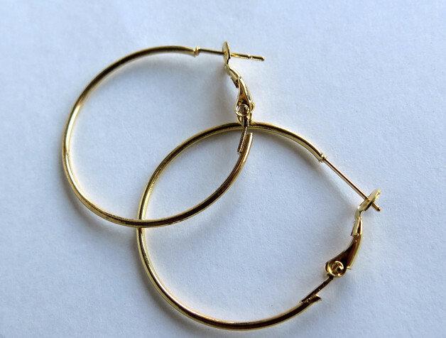 4 Cerchi per orecchini dorato FER26