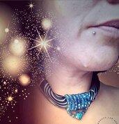 foulard-gioiello spirali azzurre
