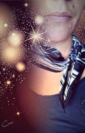 foulard-gioiello star bluette