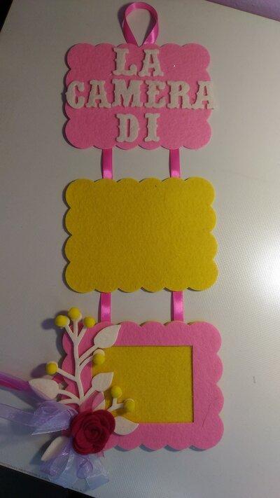 targhetta con nome, decorazione cameretta con nome e  cornice