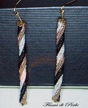 ORECCHINI LUNGHI - LINEA TWISTER GOLD