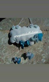 Fiocco nascita bimbo elefantino azzurro