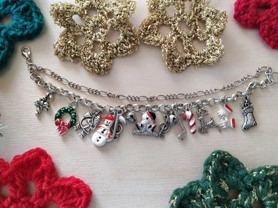 Bracciale natalizio doppia catena