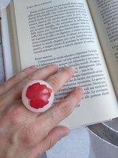 Anello donna fiori anello maxi anello regolabile anello resina foglie edera anello fatto a mano