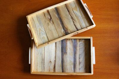Vassoio rustico in legno