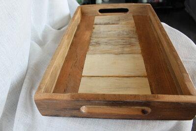 Vassoio in legno bicolore