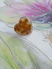 Anello donna cuore anello fatto a mano anello regolabile fiore di mimosa fiori veri fiori secchi