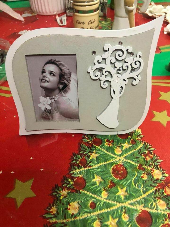 Idea regalo porta foto legno con albero della vita