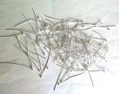 50 pins argentati FER79