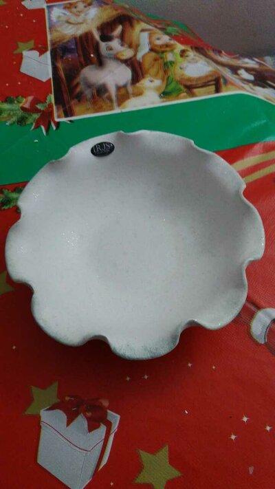 Svuota tasche - porta cioccolatino ceramica  bianco - tiffany