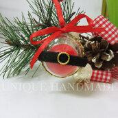 Mini palline Babbo Natale