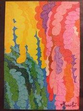 Fronde colorate di albero