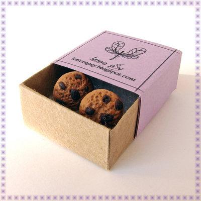 Biscotti COOKIES - orecchini a perno in fimo