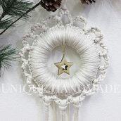 Ghirlanda natalizia bianca