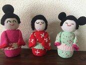 Bamboline Kokeshi giapponesi