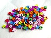 20 Bottoni di legno a forma di fiore    MIX BOT23