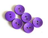 6 Bottoni di legno -VIOLA  BOT13