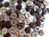 10 Bottoni di cocco rotondi   BOT50