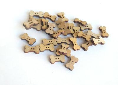 10 Bottoni di legno DOG    BOT46 Bis
