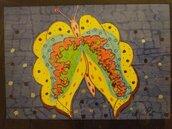 Quadretto farfalla colorata