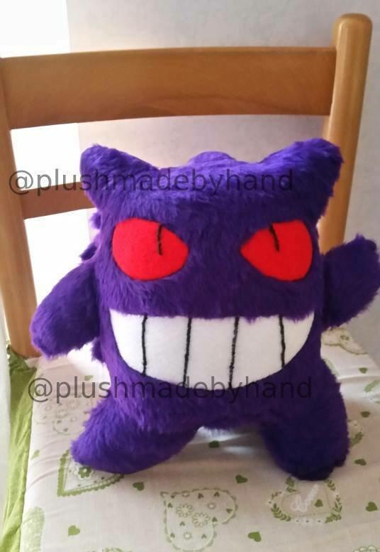 Peluche ispirato a Gengar- Pokémon - fantasma- viola