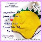 cartamodello cappellino in pile o felpa pesante bambino e adulto