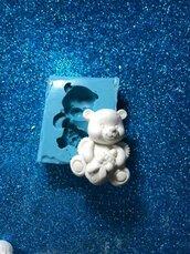 Stampo orsetto con biberon in gomma siliconica professionale da colata
