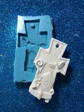 Stampo croce icona cresima in gomma siliconica professionale da colata