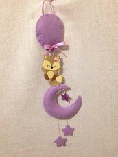 Fiocco nascita bimba bimbo Volpe stelle glitter Personalizzato con nome 🎀