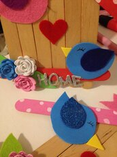 Casetta legno Home Decor Targhetta casa Idea regalo Uccellini Love Cuore Legno