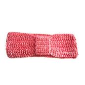 Fascia per la testa donna lavorazione uncinetto color rosa fuxia