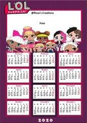 Calendario 2020 personalizzato con foto 2020 TEMA LOL SURPRISE
