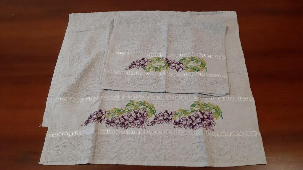Set asciugamani banda aida.