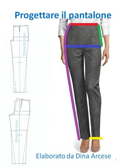 tutorial pantalone classico