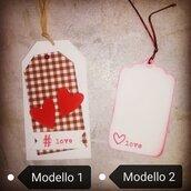 Set 3 Tag chiudi pacco Love