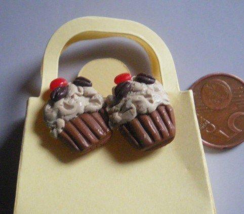 orecchini a perno cupcakes