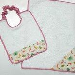 Set asilo, 2 pezzi personalizzabile con nome, fantasia in rosa
