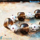 Collana Pois Fume in vetro di Murano fatto a mano