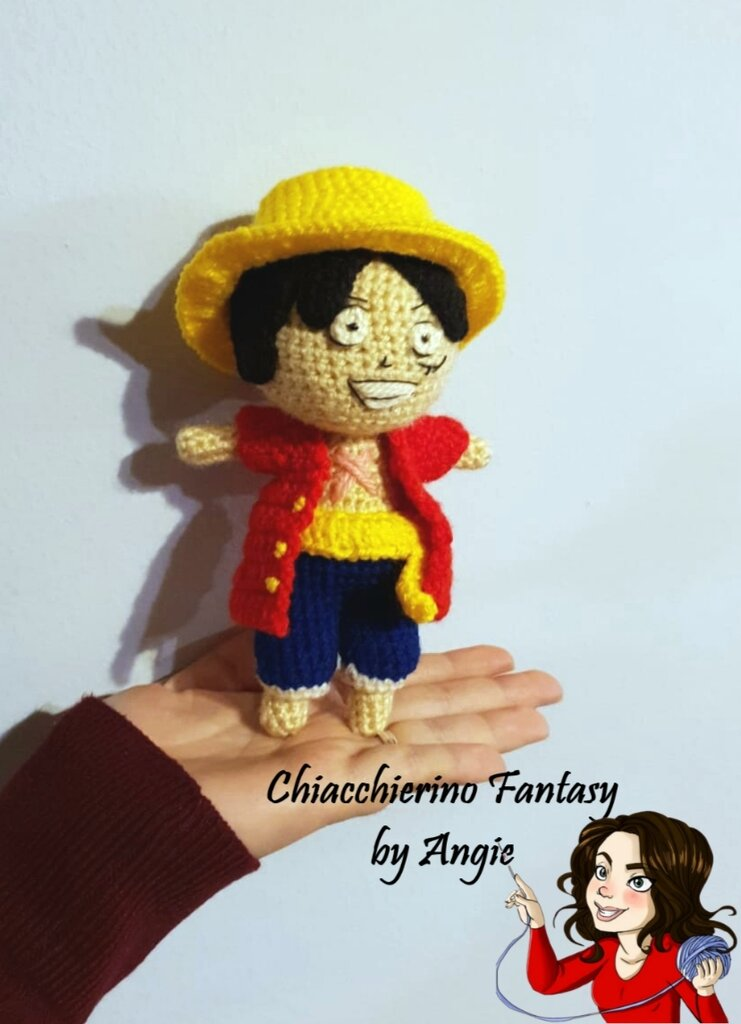 One piece - Rubber- Monkey d luffy Amigurumi -Collection