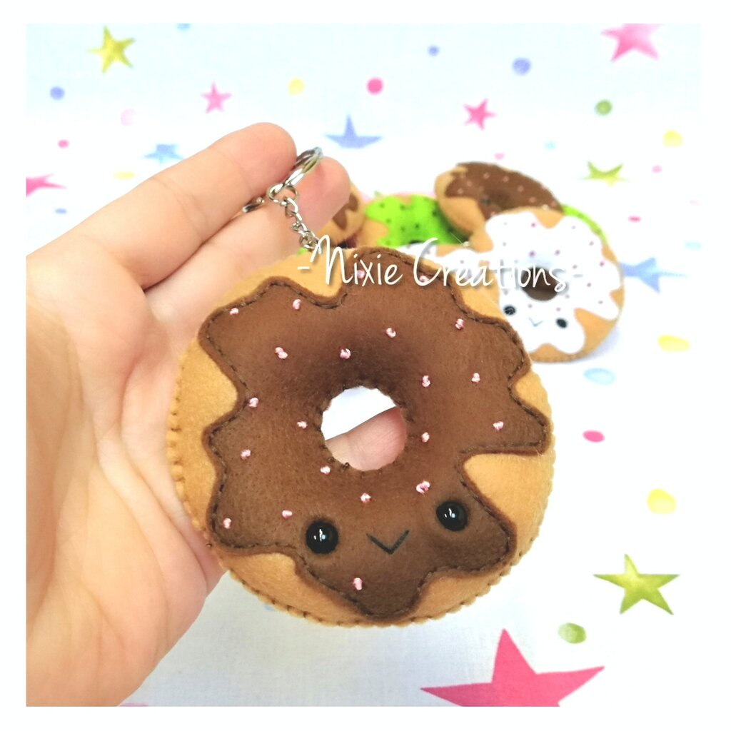 Portachiavi Ciambella Kawaii - Cute Food Creations - Marrone / Cioccolato
