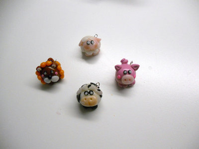 "CHARMS IN FIMO PER BOMBONIERE ""MINI ZOO"""