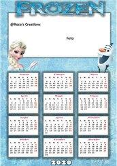 Calendario frozen personalizzato 2020