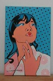 RAGAZZA GIAPPONESE POP ART 20X30 cm