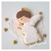 Biscotti decorati, angioletto,  prima comunione,  battesimo