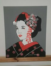 GEISHA POP ART 40X50 cm